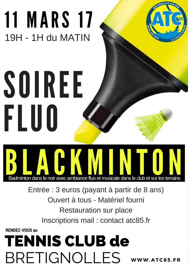 Blackminton soirée fluo