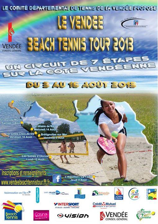 affiche beach tennis tour vendée 2013